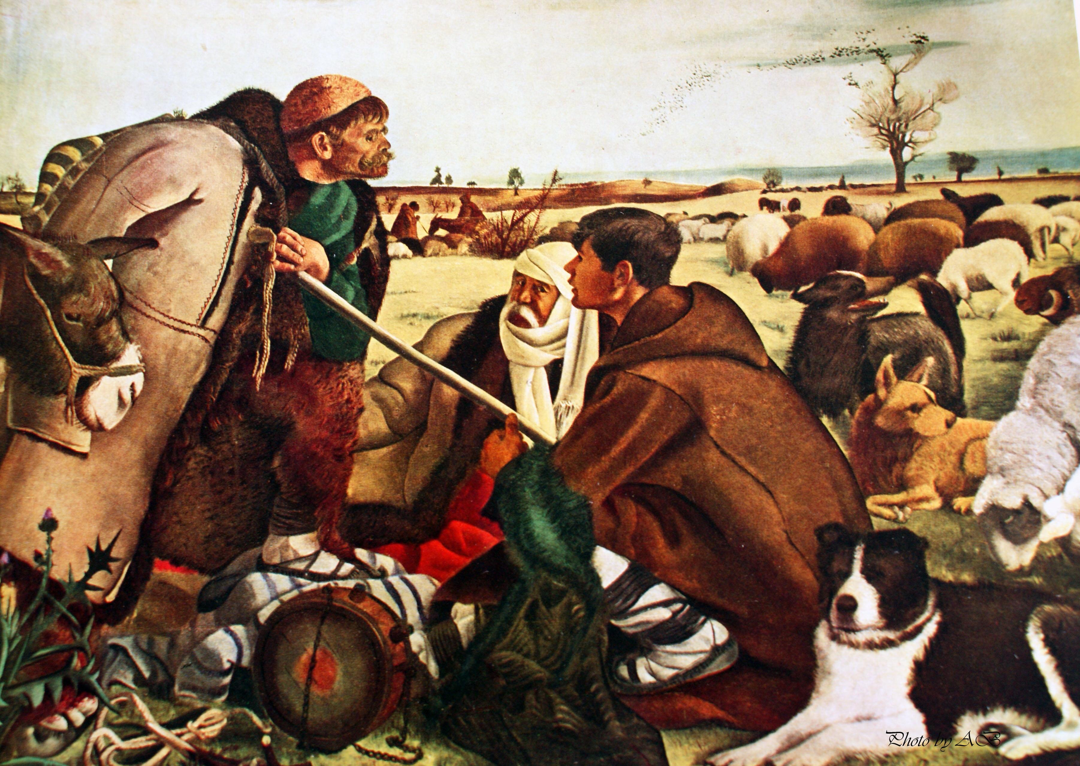 Zlatyu Boyadjiev(b. 1903), Brezovo Shepherds(1941)