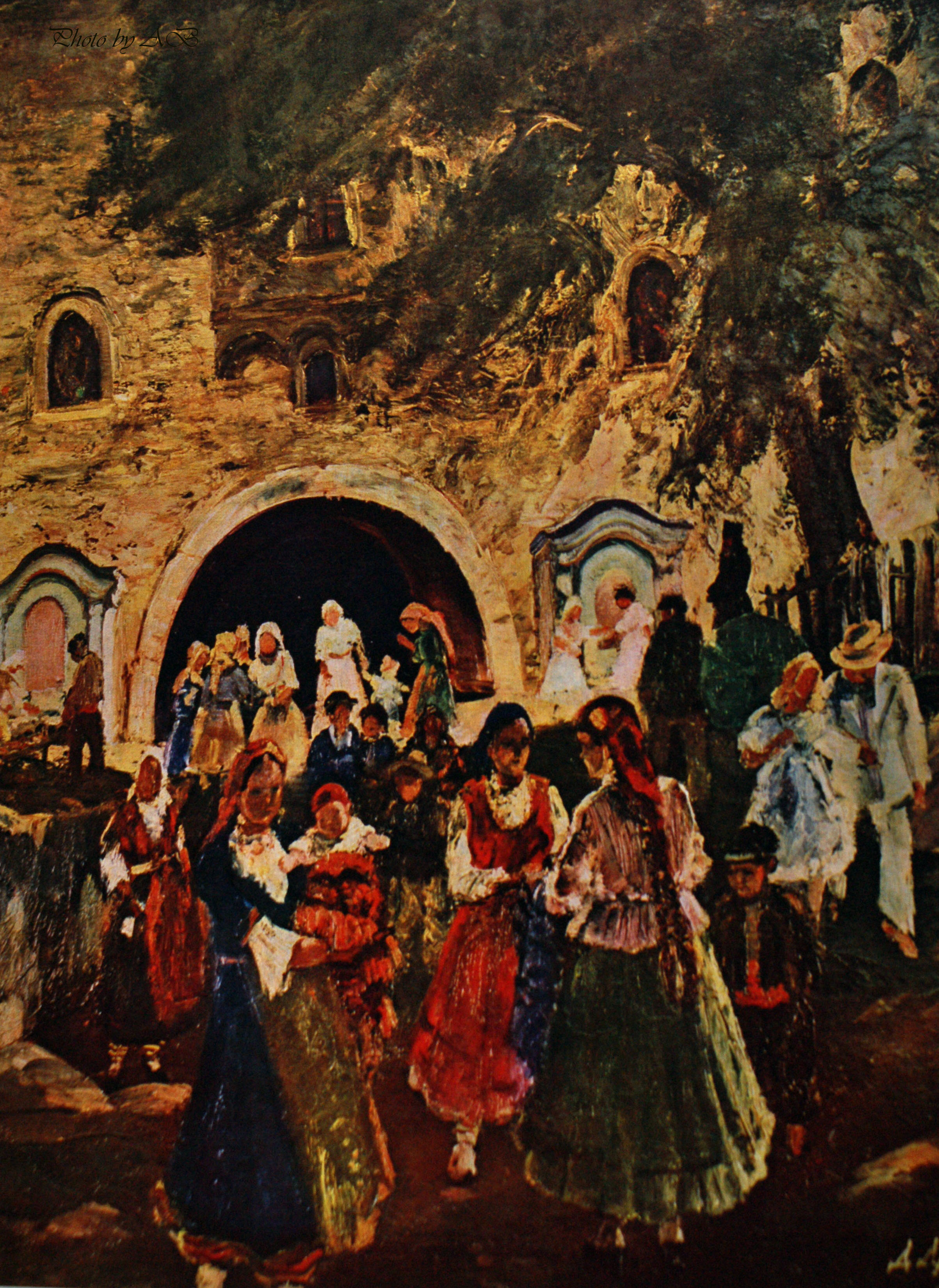 Danail Dechev (b.1891), A t the Monastery Gate(1936)