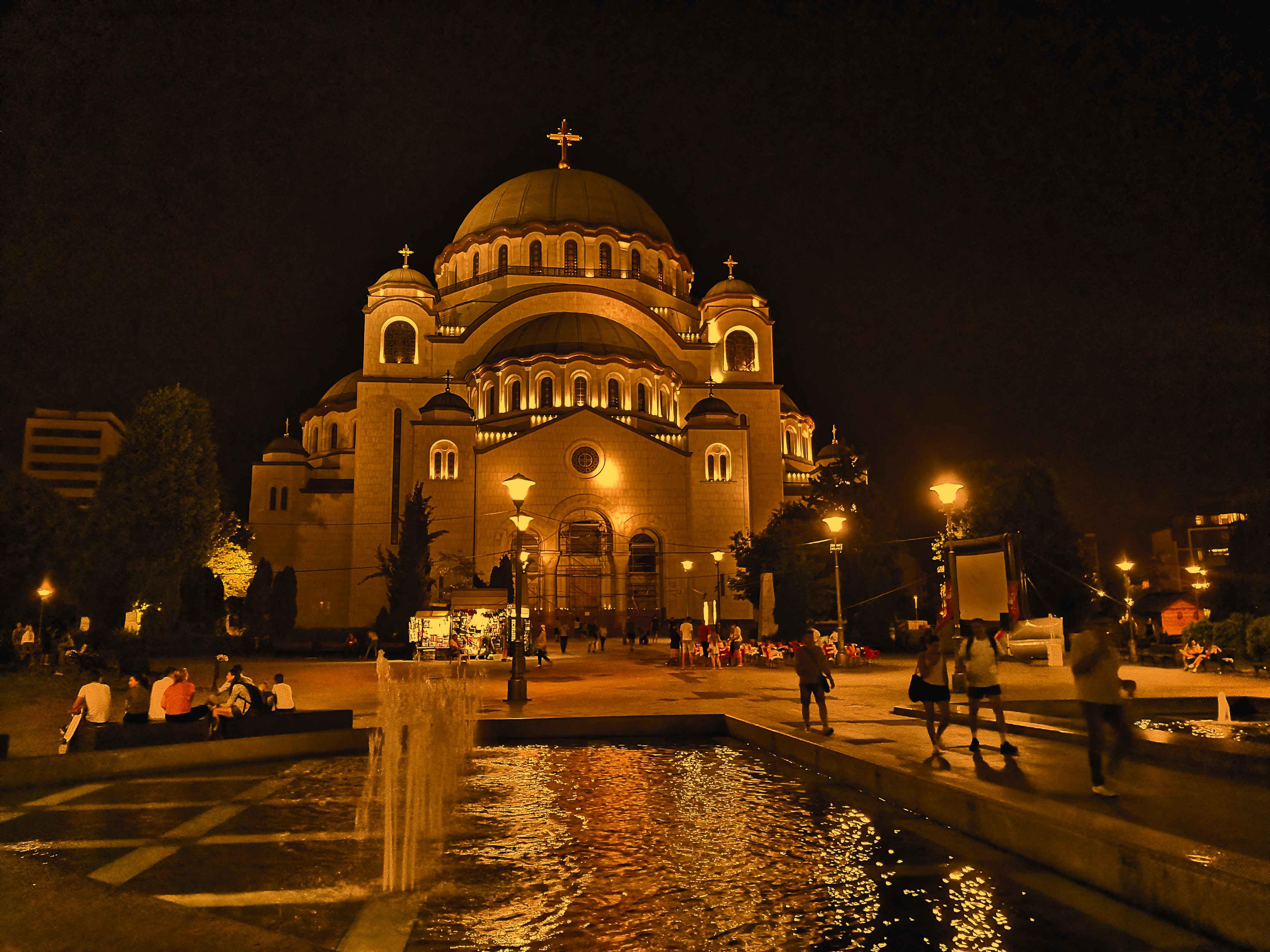 The Saint Sava Orthodox Cathedral in Belgrade